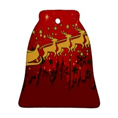 Santa Christmas Claus Winter Bell Ornament (two Sides)