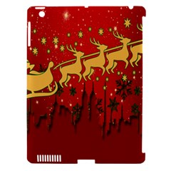 Santa Christmas Claus Winter Apple Ipad 3/4 Hardshell Case (compatible With Smart Cover)