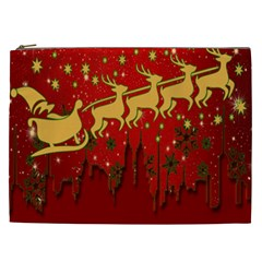 Santa Christmas Claus Winter Cosmetic Bag (XXL)