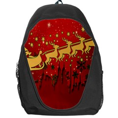 Santa Christmas Claus Winter Backpack Bag