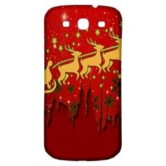 Santa Christmas Claus Winter Samsung Galaxy S3 S III Classic Hardshell Back Case