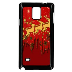 Santa Christmas Claus Winter Samsung Galaxy Note 4 Case (black)
