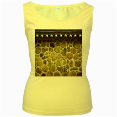 Roof Tile Damme Wall Stone Women s Yellow Tank Top