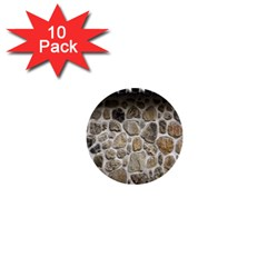 Roof Tile Damme Wall Stone 1  Mini Buttons (10 pack)