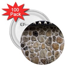 Roof Tile Damme Wall Stone 2 25  Buttons (100 Pack)