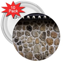 Roof Tile Damme Wall Stone 3  Buttons (10 Pack)