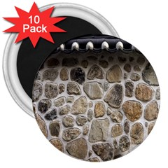 Roof Tile Damme Wall Stone 3  Magnets (10 pack)