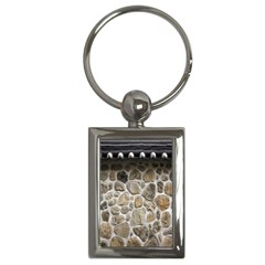 Roof Tile Damme Wall Stone Key Chains (Rectangle)