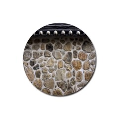 Roof Tile Damme Wall Stone Rubber Round Coaster (4 pack)