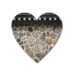 Roof Tile Damme Wall Stone Heart Magnet