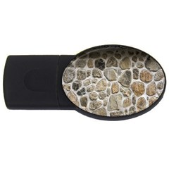 Roof Tile Damme Wall Stone USB Flash Drive Oval (2 GB)