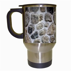 Roof Tile Damme Wall Stone Travel Mugs (White)