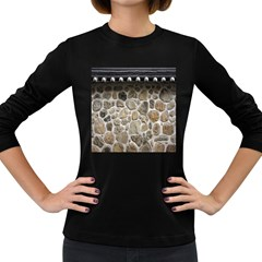 Roof Tile Damme Wall Stone Women s Long Sleeve Dark T Shirts
