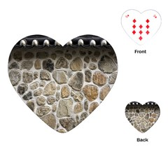 Roof Tile Damme Wall Stone Playing Cards (Heart)