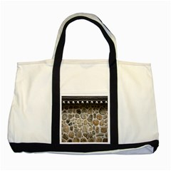 Roof Tile Damme Wall Stone Two Tone Tote Bag