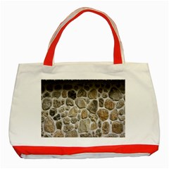Roof Tile Damme Wall Stone Classic Tote Bag (Red)