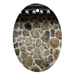 Roof Tile Damme Wall Stone Oval Ornament (two Sides)
