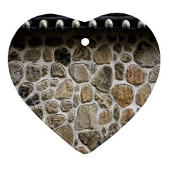 Roof Tile Damme Wall Stone Heart Ornament (two Sides)