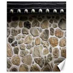Roof Tile Damme Wall Stone Canvas 8  x 10
