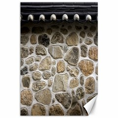 Roof Tile Damme Wall Stone Canvas 12  X 18