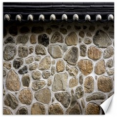 Roof Tile Damme Wall Stone Canvas 16  X 16