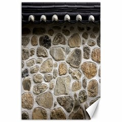 Roof Tile Damme Wall Stone Canvas 24  x 36