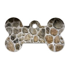 Roof Tile Damme Wall Stone Dog Tag Bone (two Sides)