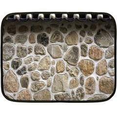 Roof Tile Damme Wall Stone Fleece Blanket (mini)