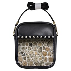 Roof Tile Damme Wall Stone Girls Sling Bags
