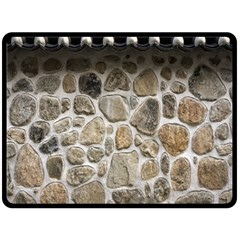 Roof Tile Damme Wall Stone Fleece Blanket (large)