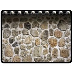 Roof Tile Damme Wall Stone Fleece Blanket (Large)