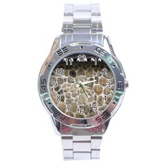 Roof Tile Damme Wall Stone Stainless Steel Analogue Watch