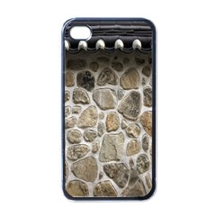 Roof Tile Damme Wall Stone Apple Iphone 4 Case (black)