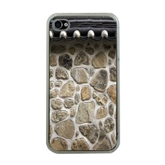 Roof Tile Damme Wall Stone Apple iPhone 4 Case (Clear)