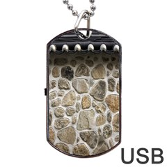 Roof Tile Damme Wall Stone Dog Tag Usb Flash (one Side)