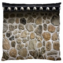 Roof Tile Damme Wall Stone Large Cushion Case (two Sides)