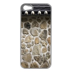 Roof Tile Damme Wall Stone Apple iPhone 5 Case (Silver)