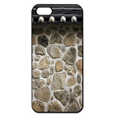 Roof Tile Damme Wall Stone Apple iPhone 5 Seamless Case (Black)