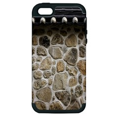 Roof Tile Damme Wall Stone Apple iPhone 5 Hardshell Case (PC+Silicone)