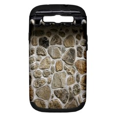 Roof Tile Damme Wall Stone Samsung Galaxy S III Hardshell Case (PC+Silicone)