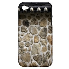 Roof Tile Damme Wall Stone Apple Iphone 4/4s Hardshell Case (pc+silicone)