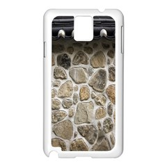 Roof Tile Damme Wall Stone Samsung Galaxy Note 3 N9005 Case (white)