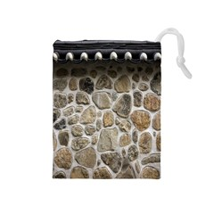 Roof Tile Damme Wall Stone Drawstring Pouches (medium)