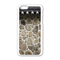 Roof Tile Damme Wall Stone Apple iPhone 6/6S White Enamel Case