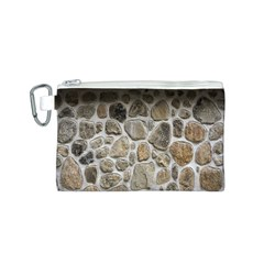 Roof Tile Damme Wall Stone Canvas Cosmetic Bag (S)