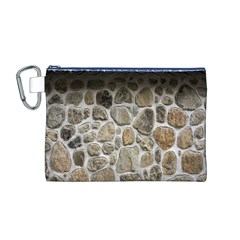 Roof Tile Damme Wall Stone Canvas Cosmetic Bag (m)