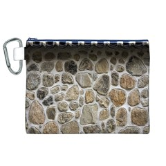 Roof Tile Damme Wall Stone Canvas Cosmetic Bag (xl)