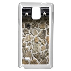 Roof Tile Damme Wall Stone Samsung Galaxy Note 4 Case (white)
