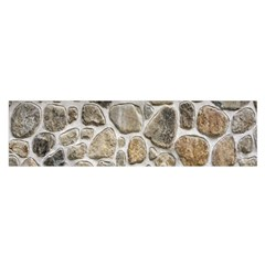 Roof Tile Damme Wall Stone Satin Scarf (Oblong)