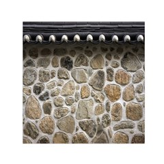 Roof Tile Damme Wall Stone Small Satin Scarf (square)